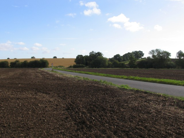 Kirby Lane on 3 September 2007 after being ploughed fields