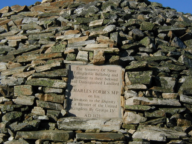 Inscribed tablet on the east side of the cairn