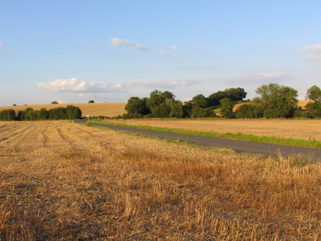 Kirby Lane on 2 August 2007 just after the harvest