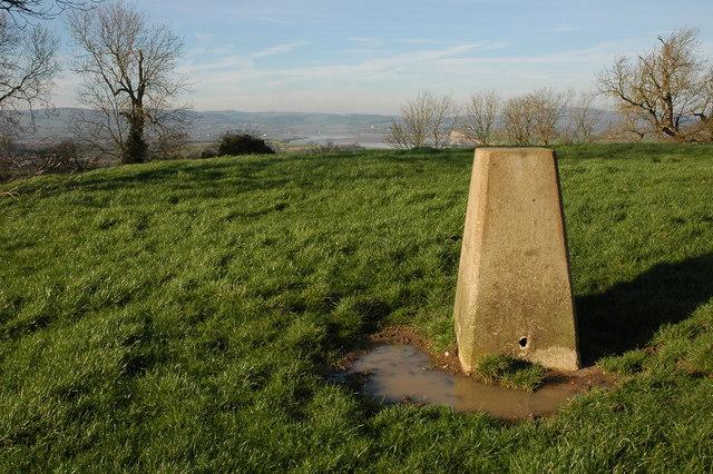 Trig point on Barrow Hill, Fretherne