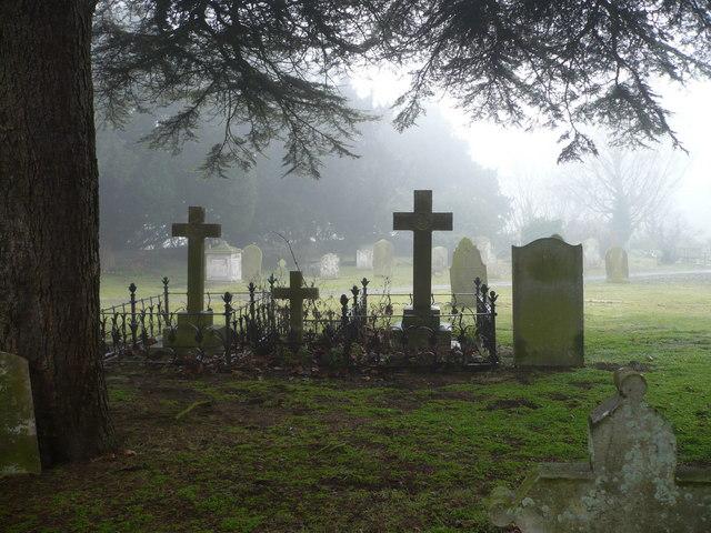 Ospringe churchyard, looking towards Water Lane