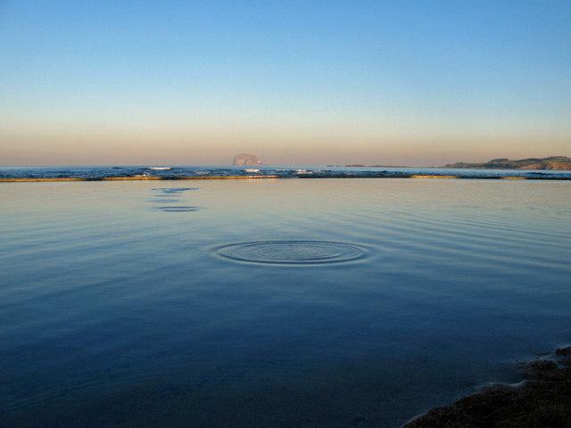 Tidal, salt water lido at North Berwick
