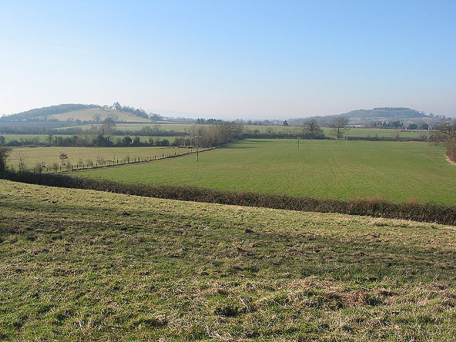 View of two hills from Hartpury