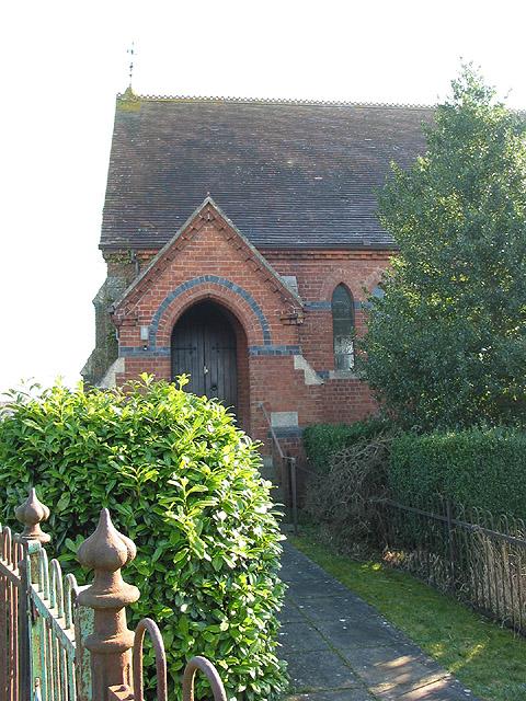 Porch and entrance to Hartpury Methodist Church