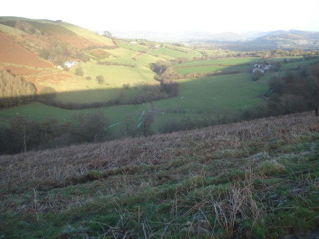 Farmland at Cwm Gwalley
