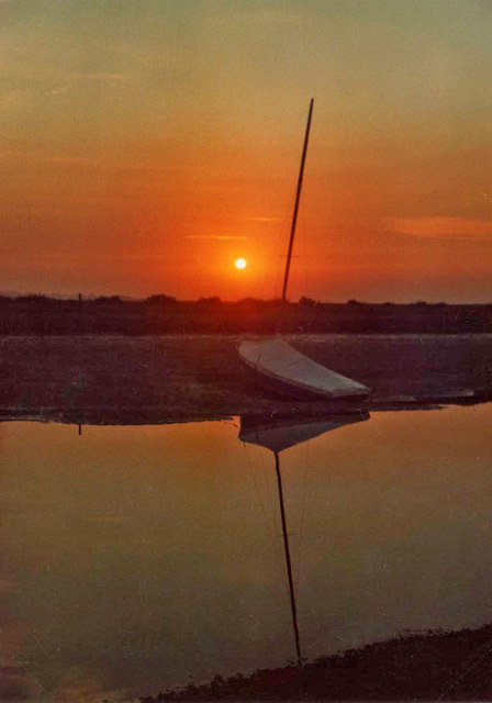 Tidal Creek at Blakeney, Norfolk, at sunset