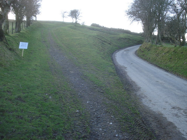 Lane junction at Burl Hill