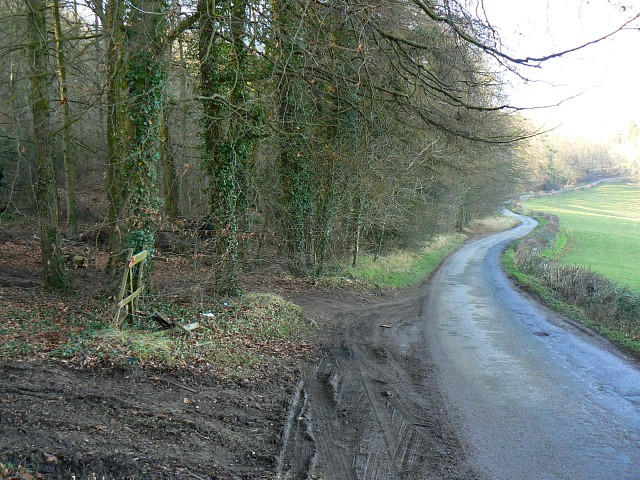 Minor road at Humblebee, near Charlton Abbots