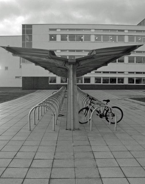 Bike stand, Queen Margaret's University