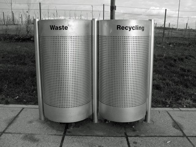 Waste and recycling bins, Queen Margaret's University