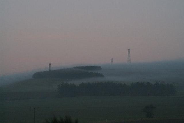 Mist over Bruxie Hill
