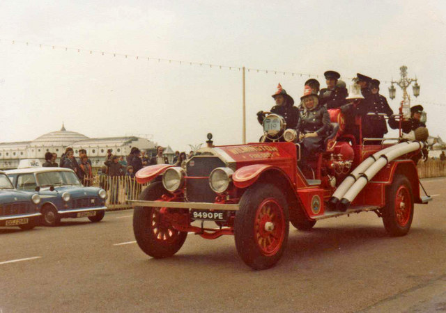 Veteran Fire Engine, Historic Commercial Vehicle Run, Brighton, Sussex - historic Photograph taken 1979