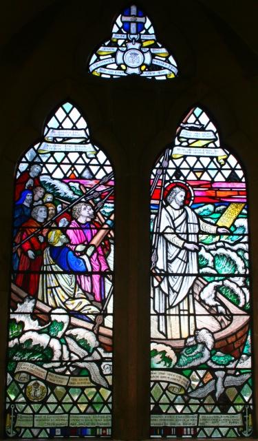 Christ Calming the Sea Window, Hook Church