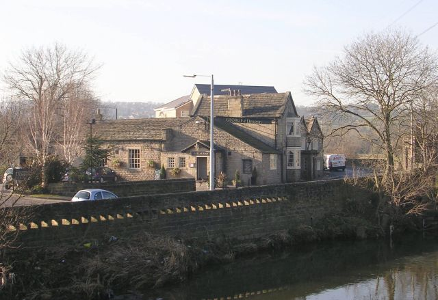 George & Dragon - overlooking the River Aire, Apperley Bridge