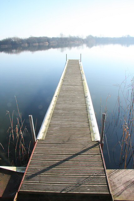 Landing stage at Roswell Pits