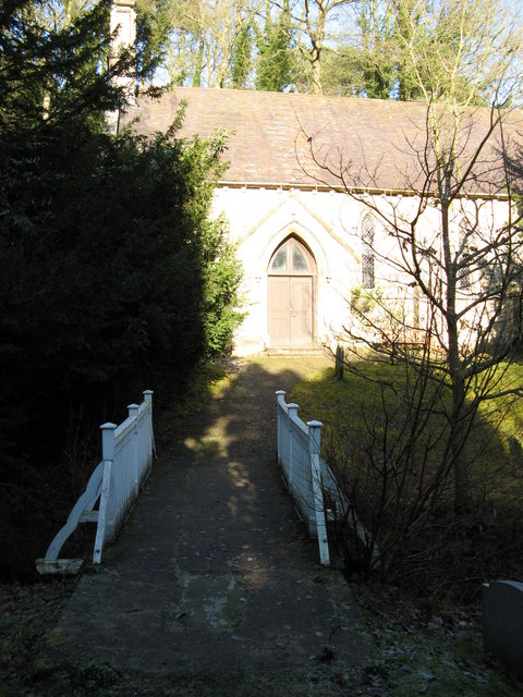 Over the bridge and to the church