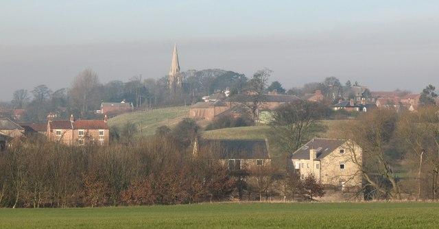 Across the fields to Hunsingore