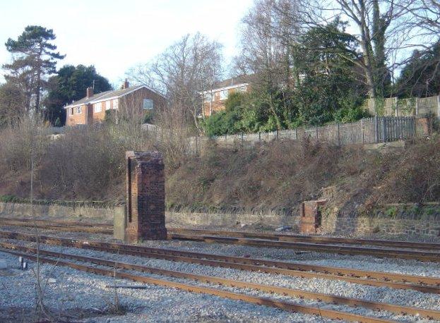 Footbridge remains