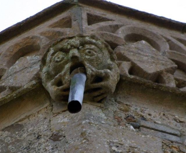 Gargoyle on St. Mary's Church tower.