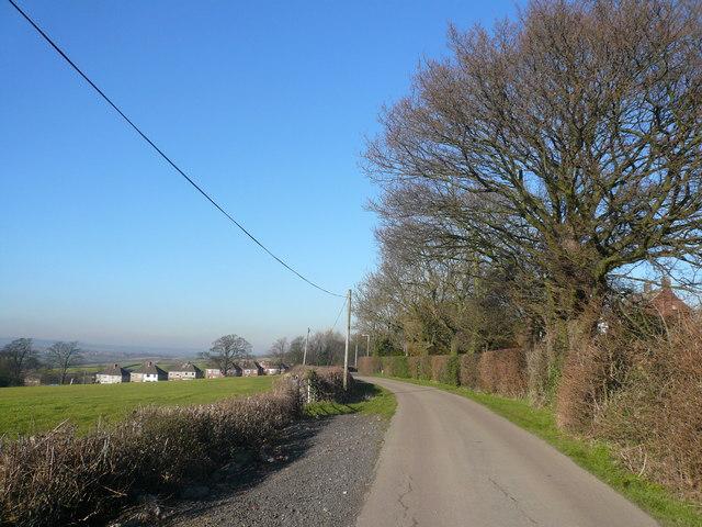 Longcourse Lane - View towards A632