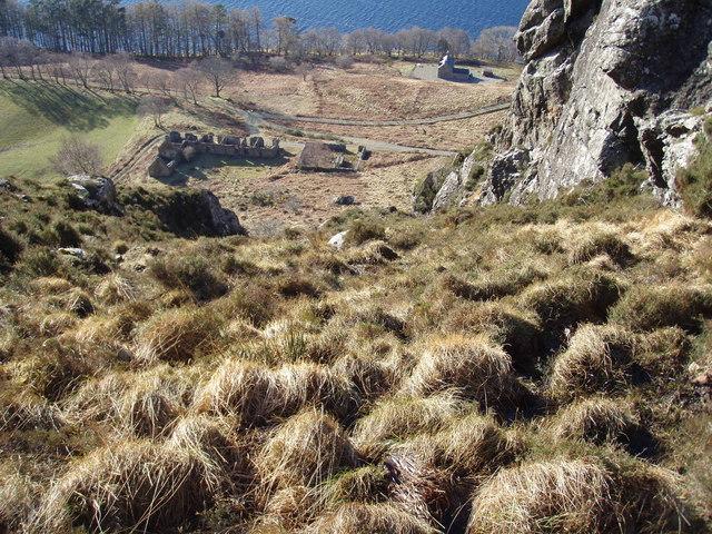 Steep hillside above Loch Maree