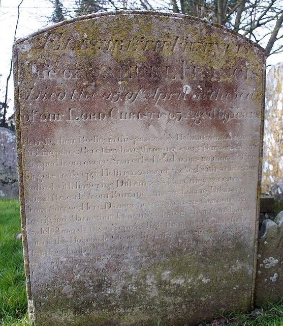 The Longest Inscription in the Graveyard