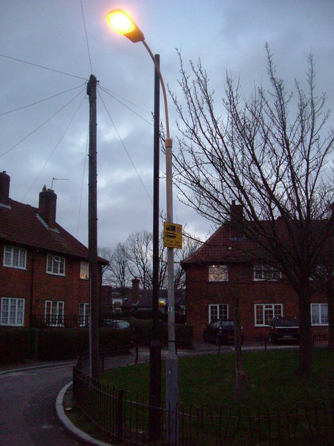 Streetlight replacement - Pansy Gardens