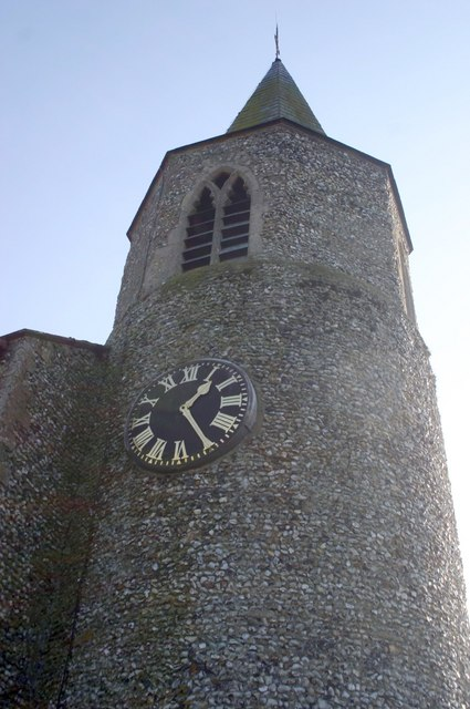 Clock on Church Tower at Croxton