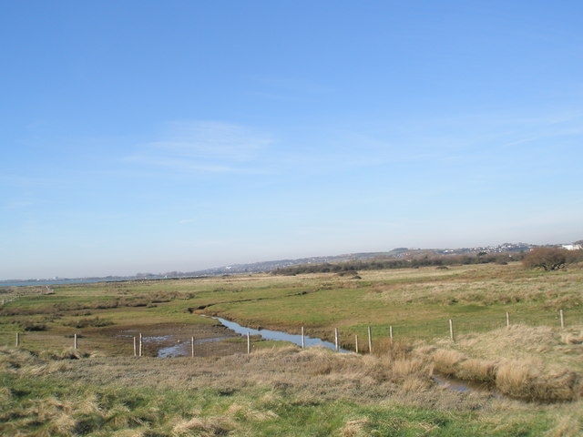 Drainage channel flowing into Langstone Harbour