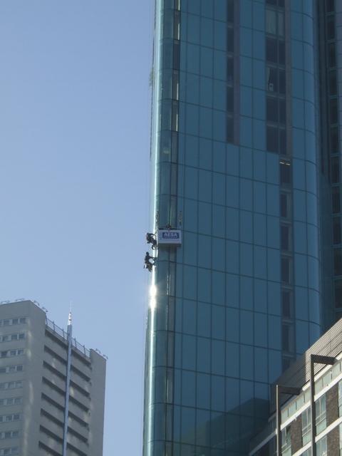 Men at work on the Radisson Hotel