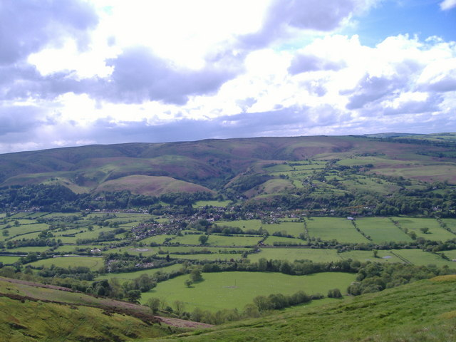 All Stretton from Caer Caradoc.
