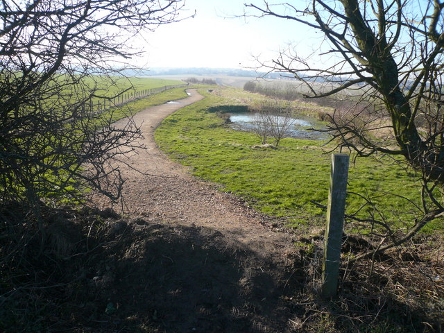 Longcourse Lane - View of Newly Created Footpath