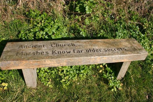 Seat at entrance to churchyard
