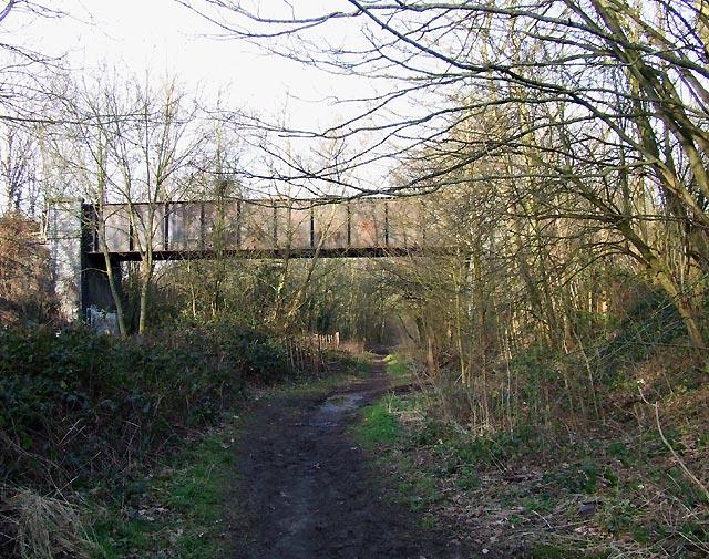 Bridge over  old Railway Trackbed, Wolverhampton