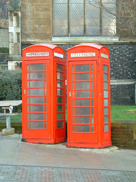 Two telephone boxes