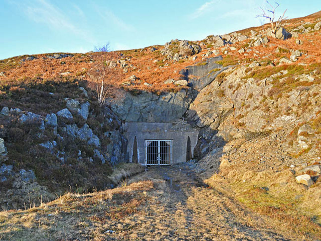 Construction Adit of the hydroelectric tunnel from Loch Lednock