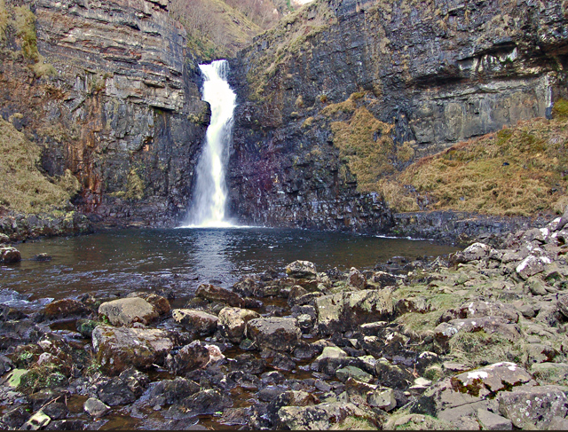 Lower falls at Lealt