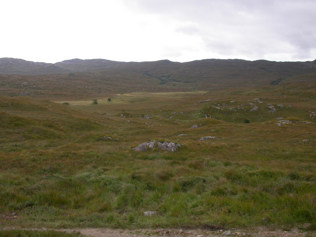 Strath Shuardail from the path north of Rannoch River