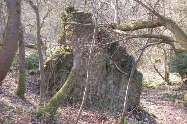 Remains of a cottage in Clicket village