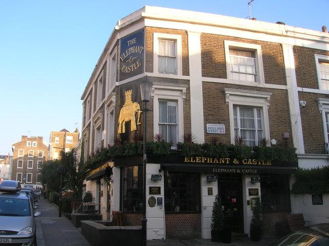 Elephant and Castle Public House, Holland Street, London W8