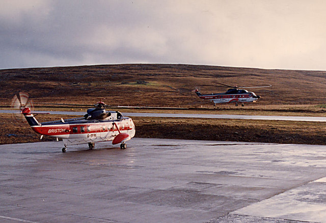 Helicopters at Unst Airport