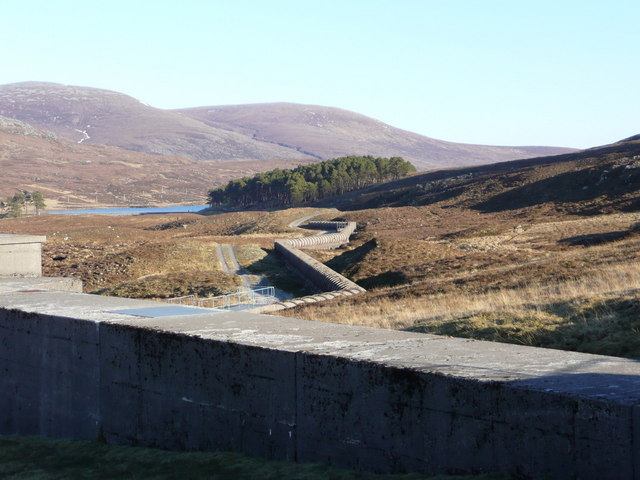 The pipeline to Loch Droma