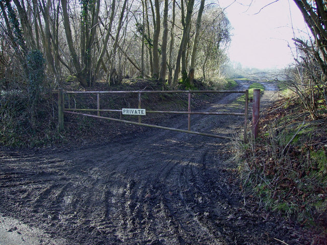 Lower Bullington - Private Track