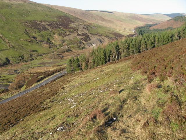 Wool Law hillside towards Water Head