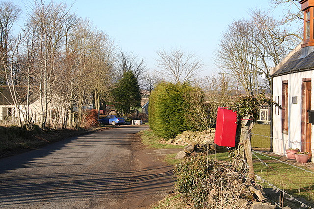 Postbox south of the lodge at Parkhill