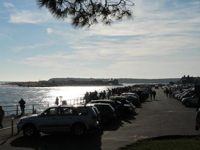 Mudeford: full car park