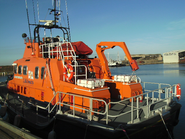 A new Lifeboat at Buckie Harbour