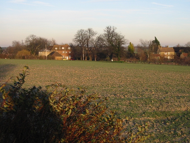View across the field to Grove Manor Farm