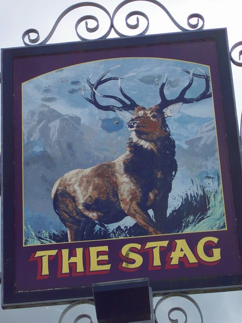 Sign for the Stag, Charlton All Saints