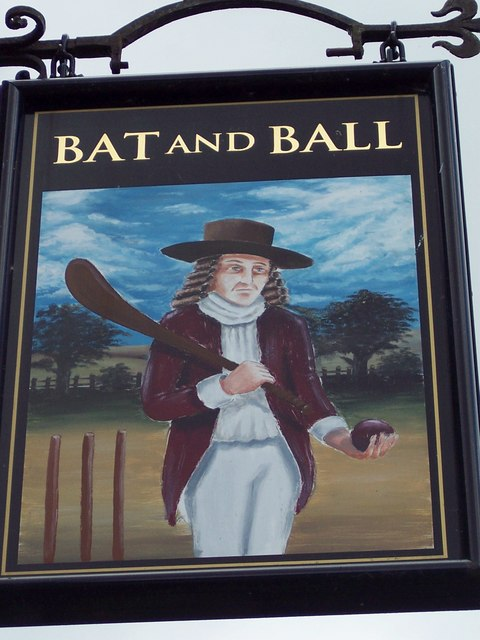 Sign for the Bat and Ball, Breamore